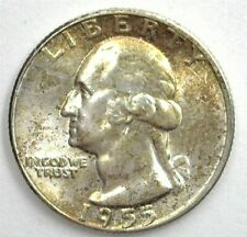 1955 WASHINGTON SILVER 25 CENTS GEM++ UNCIRCULATED RARE THIS NICE!