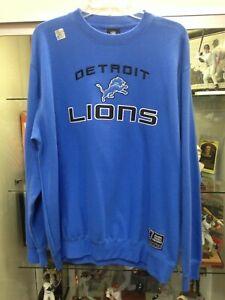 Detroit Lions Mens Large Pull Over Crew Sweatshirt Reebok NEW w/tags