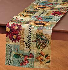 "Rustic Harvest Fall Tapestry Thanksgiving & Fall Decor Table Runner 72""x13"""