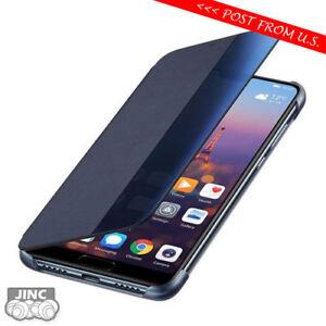 100% Official Genuine Original Huawei P20 Smart View Flip Cover Case Pouch