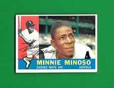 1960 TOPPS #365 MINNIE MINOSO - SIGNED - AUTO - AUTOGRAPHED DECEASED - WHITE SOX