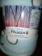 NEW~ Disney's Frozen 2 Olaf Fleece Fabric Throw Blanket 1.5 Yards Blue