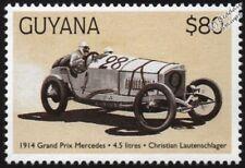1914 MERCEDES-BENZ (Christian Lautenschlager) F1 GP Racing Car Stamp/1998 Guyana