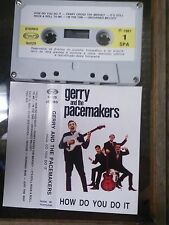 Cassette Gerry & The Pacemakers How Do You Do It rare live import 1981 Portugal