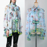 DMS Women Floral Angel Print Chiffon Elegant Summer Blouse Top Plus Size
