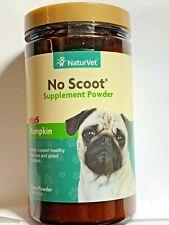 NaturVet No Scoot Plus Pumpkin Puppy Dog Powder Supplement, 155g bottle
