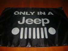 JEEP 20x30 Flag Banner Show Garage Racing Shop Deco JEEP TRUCK FJ CJ RUBICON