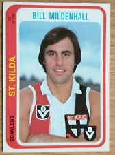 1979 VFL SCANLENS CARD - Bill Mildenhall St Kilda 16 of 156 EXCELLENT