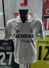 Maillot jersey shirt real madrid raul zidane benzema 2004 2005 04/05 s vintage