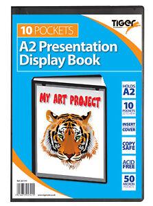 Tiger Presentation Display Book A5/A4/A3/A2 Black Office Folder Portfolios