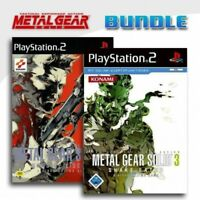 PS2 Metal Gear Solid 2 Sons of Liberty + Metal Gear Solid 3 Snake Eater mit OVP