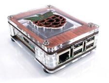 Zebra Wood Case with Raspberry Inlay NOW WITH FAN~ for Raspberry Pi3B+, 3, Pi2