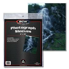 Pack of 100 Sleeves BCW 8X10 Photo Sleeves Toploaders (#CS14)