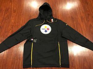 Nike Men's Pittsburgh Steelers On Field Player Therma Hoodie Sweatshirt Large L