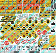 HO Scale Traffic Signs, Aussie Signs Model Railway Signs - 158 Signs - HOTRS1