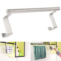 Over Door Towel Holder Rack Bathroom Rail Cupboard Hanger Kitchen Bar