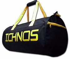 Ichnos sport training holdall football gym duffel active bag black yellow