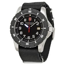 New Victorinox Swiss Army Men's Maverick Sport Black Nylon Strap Watch 241674