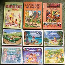 9 Vintage Enid Blyton Hard Cover Books - Mr Twiddle, Noddy, Round the Clock etc.