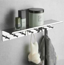 Wall Mount Bathroom Shelves With Hooks Chrome SUS304 Shower Caddy Rack Storage