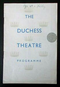 The Linden Tree programme Duchess Theatre Apr 1948 Lewis Casson Sybil Thorndike