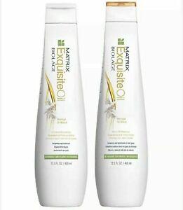 Matrix Biolage Exquisite Oil Micro-oil Shampoo & Conditioner 13.5 oz Duo