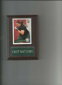 CASEY MATTHEWS PLAQUE PHILADELPHIA EAGLES FOOTBALL NFL   C