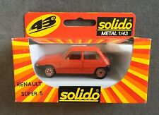 Diecast Solido Metal 1984 Red Renault Super 5 1:43 Scale Nos