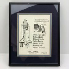 Robert L Conely Challenger Space Shuttle Pencil Drawing 1986 - SIGNED