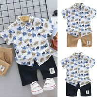 UK Toy Story 4 Kids Boys Outfits Summer 100/% Cotton T-shirt+Jeans 2Pcs Age 3-10