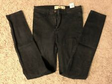 Women's Juniors HOLLISTER Black Denim Cotton High Rise Jean Legging Jeans - 3L