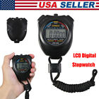 Electronic Timer LCD Digital Sport Stopwatch Date Time Alarm Counter Chronograph photo
