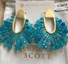 New Kendra Scott Diane Turquoise Agate earrings $195.00