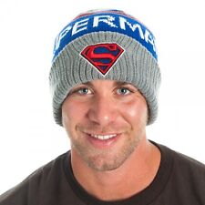 Official ~DC Comics SUPERMAN LOGO BEANIE~ Boys Winter Hat Men Women Knit Ski Cap