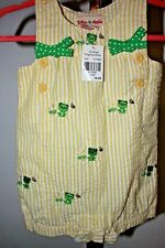 Nwt Toffee Apple, Baby Girl's 12 Months Yellow Frog One-Piece Outfit