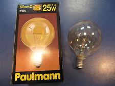 rarité - Paulmann Mini - LAMPE GLOBE E14 25W G60 or Lustre Ampoule