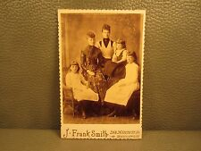 Victorian Antique Cabinet Card Photo of Five Women Sisters