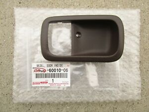 91-95 TOYOTA LAND CRUISER FJ80 FZJ80 REAR LEFT DOOR HANDLE BEZEL TRIM SABLE NEW