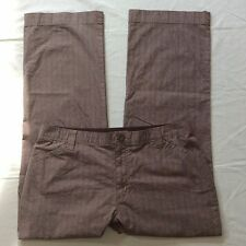 Lee Comfort Waistband Stretch Brown Casual Dress Pants Women's 16 Petite