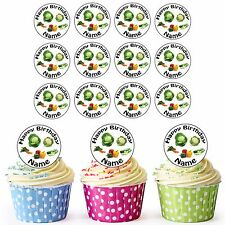 Gardening Allotment Mix 24 Personalised Pre-Cut Edible Birthday Cupcake Toppers