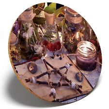 1 x Wicca Occult Witchcraft - Round Coaster Kitchen Student Kids Gift #16131