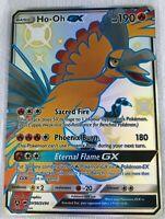 Ho-Oh GX SHINY FULL ART SECRET RARE SV50/SV94 Pokemon SM Hidden Fates NM