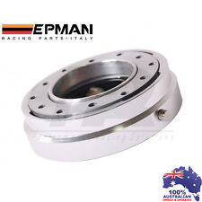*SILVER* EPMAN RACING THIN QUICK RELEASE SNAP OFF STEERING WHEEL HUB ADAPTER