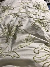 Pottery Barn King Size Embroidered Duvet