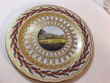 """10"""" TIN PLATE  MADE IN ENGLAND 2000 A DESIGN TAKEN FROM A DERBY PORCELAIN PLATE"""