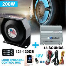 200W PA Siren Horn Bluetooth Loud Speaker System Kit Car Police Alarm 18Tone 12V