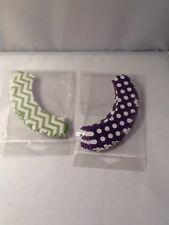Cupcake Wrappers 35 Purple Polka Dots 35 Green White Zig Zag Dress My Cupcake