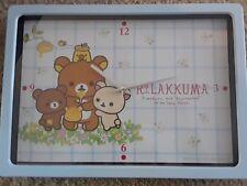Rilakkuma Poster Clock Wall Clock Wall Sanrio