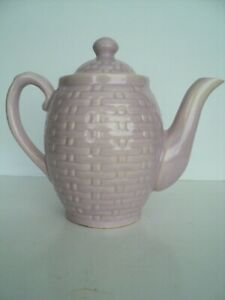 Weller Pottery Pierre basket weave Lavender Tea Coffee pot Nice- no chips or cra