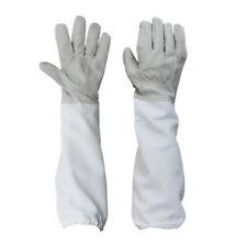Pair Goatskin Protective Beekeeping Gloves Bee Keeping & Vented Long Sleeves XXL